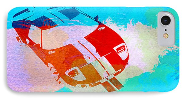 Ford Gt Watercolor  IPhone Case by Naxart Studio