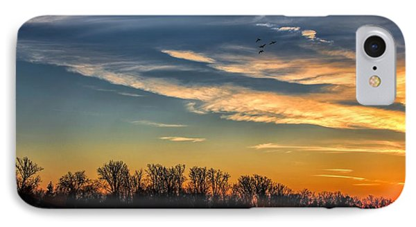 Ford Lake Sunset IPhone Case by Pat Cook