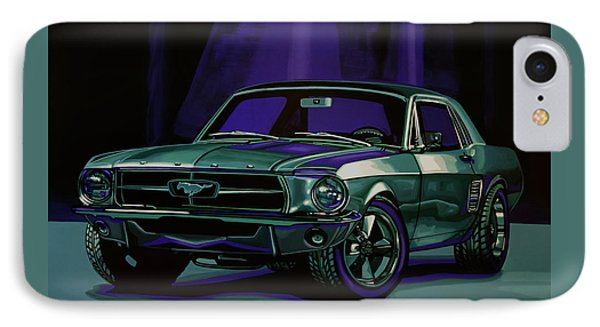 Ford Mustang 1967 Painting IPhone Case by Paul Meijering