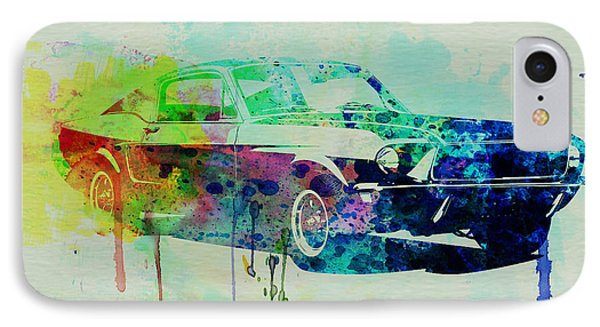 Ford Mustang Watercolor 2 Phone Case by Naxart Studio