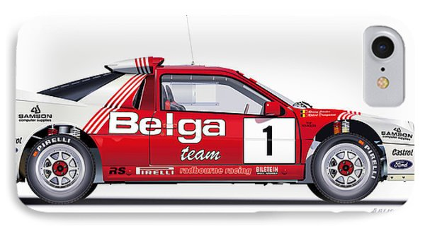 Ford Rs 200 Belga Team Illustration IPhone Case by Alain Jamar