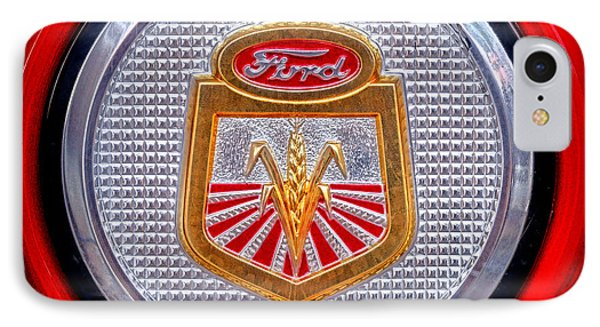 Ford Tractor Badge IPhone Case by Olivier Le Queinec