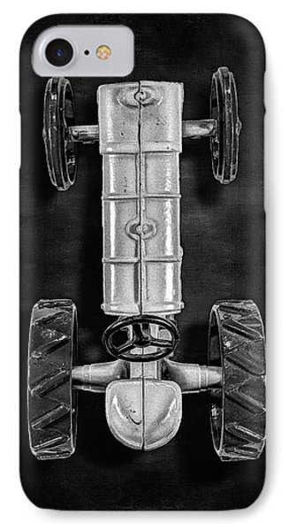 Fordson Tractor Top Bw IPhone Case by YoPedro