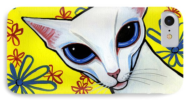 Foreign White Cat Phone Case by Leanne Wilkes