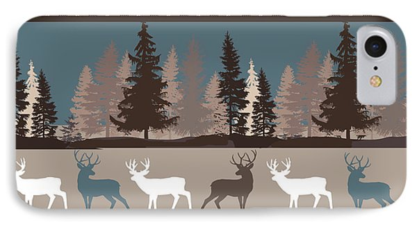 Forest Deer Lodge Plaid II IPhone Case by Mindy Sommers