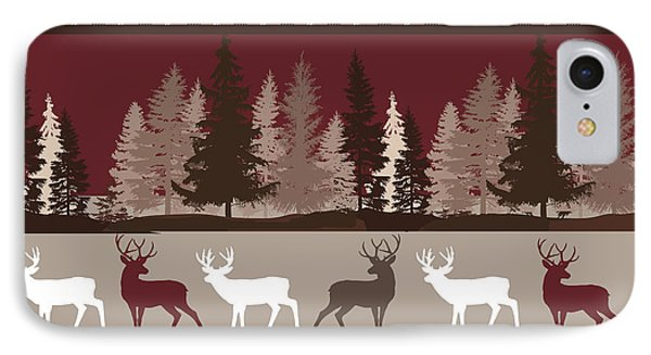 Forest Deer Lodge Plaid IPhone Case by Mindy Sommers