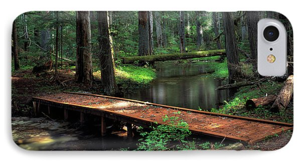 Forest Foot Bridge IPhone Case by Leland D Howard
