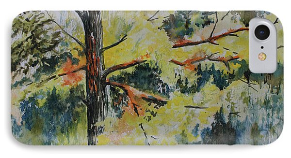 IPhone Case featuring the painting Forest Giant by Joanne Smoley