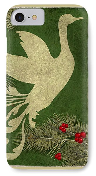 Forest Holiday Christmas Goose IPhone Case by Mindy Sommers