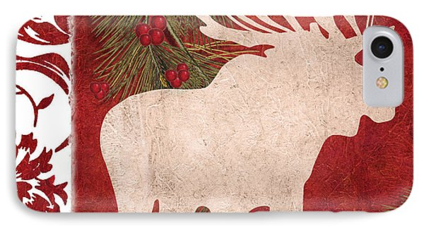 Forest Holiday Christmas Moose IPhone Case