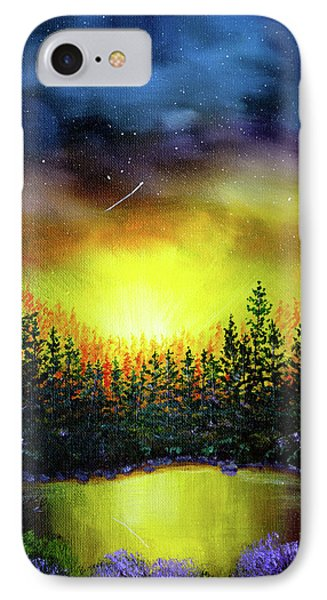 Forest Lake In Twilight IPhone Case by Laura Iverson