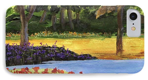 IPhone Case featuring the painting Forest Lake by Jamie Frier