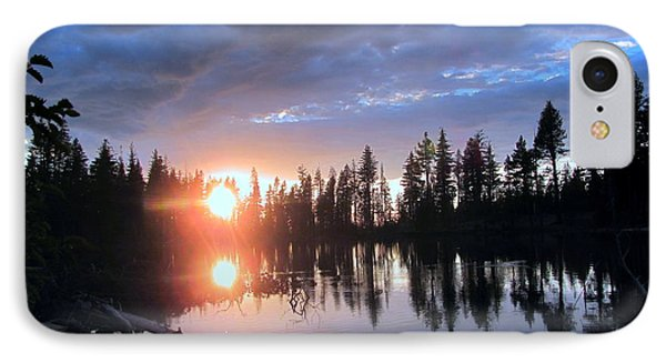 IPhone Case featuring the photograph Forest Lake Sunset  by Irina Hays