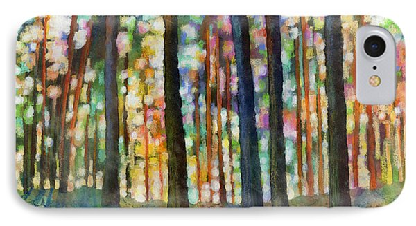 IPhone Case featuring the painting Forest Light by Hailey E Herrera