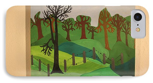 IPhone Case featuring the painting Forest Moderna by Erika Chamberlin