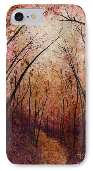 IPhone Case featuring the painting Forest Path by Hailey E Herrera