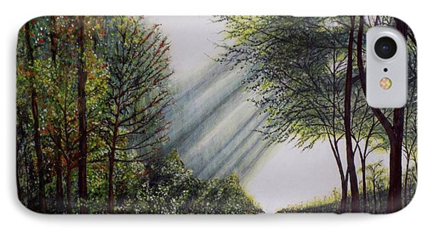 IPhone Case featuring the painting Forest Pathway by Judy Kirouac