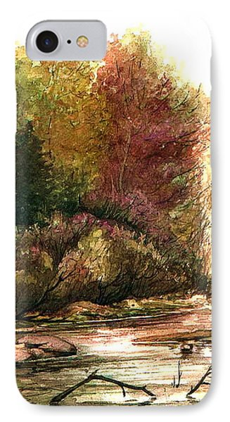 IPhone Case featuring the painting Forest Puddle by Mikhail Savchenko