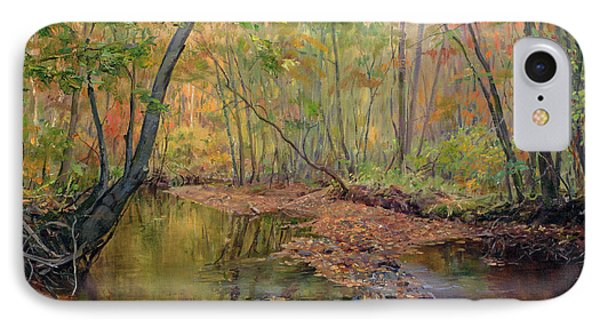 Forest River In Early Fall IPhone Case