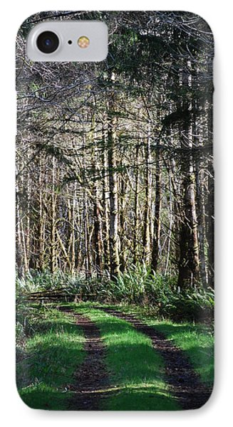 Forest Road IPhone Case by Gene Ritchhart
