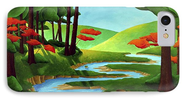 Forest Stream - Through The Forest Series Phone Case by Richard Hoedl