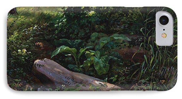 Forest Study From Grosser Garten In Dresden IPhone Case