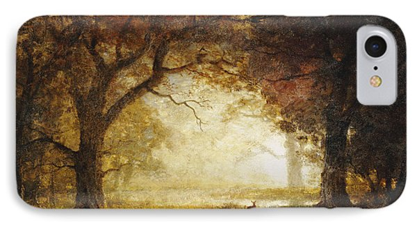 Forest Sunrise IPhone Case by Albert Bierstadt