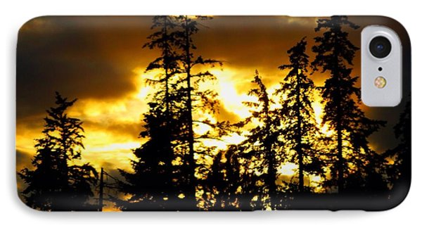 IPhone Case featuring the photograph Forest Sunset  by Nick Gustafson