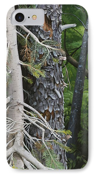 Forest Textures IPhone Case by Wendy Ballentyne