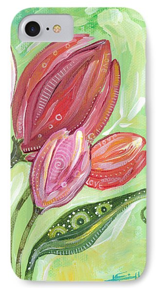 IPhone Case featuring the painting Forever In Bloom by Tanielle Childers