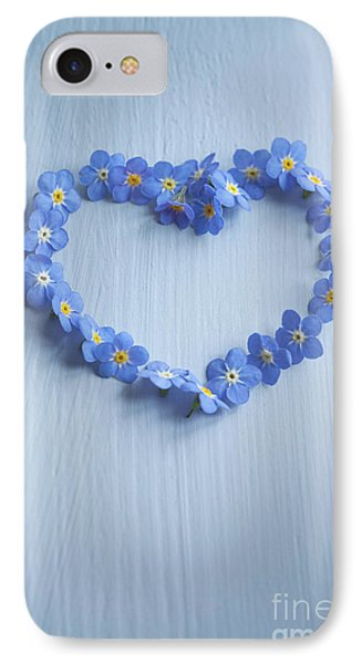 Forget Me Not Heart IPhone Case
