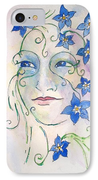Forget Me Not IPhone Case by Robin Monroe