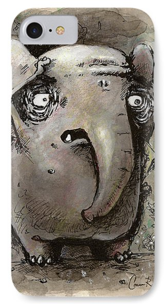 Forgetful Elephant IPhone Case by Connor Reed Crank