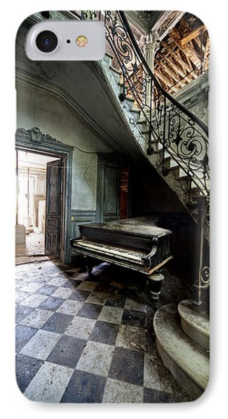 Forgotten Ancient Piano - Urban Exploration IPhone Case by Dirk Ercken