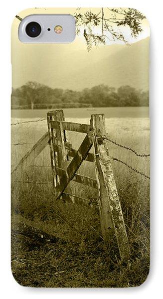 Landscape iPhone 7 Case - Forgotten Fields by Holly Kempe