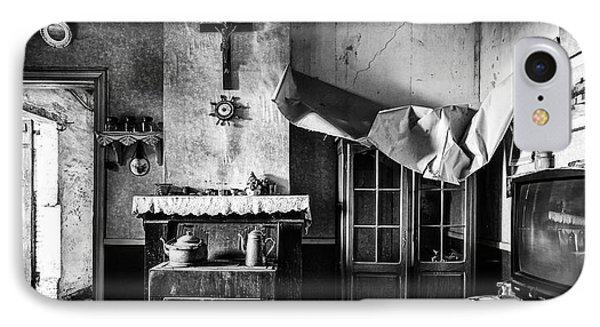 Forgotten Living Room - Abandoned House Interior IPhone Case by Dirk Ercken