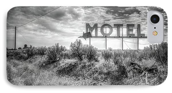 IPhone Case featuring the photograph Forgotten Motel Sign by Spencer McDonald