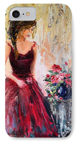 IPhone Case featuring the painting Forgotten Rose by Jennifer Beaudet