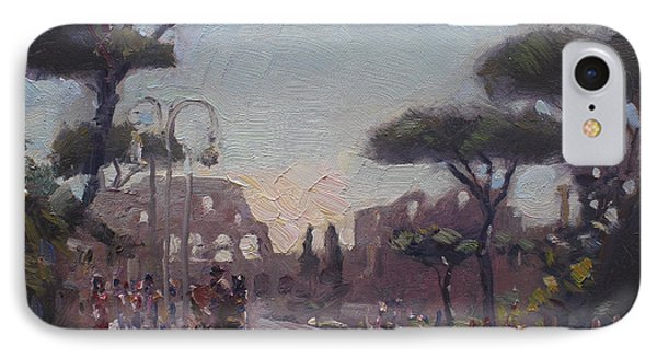 Fori Romani - Street To Colosseo IPhone Case