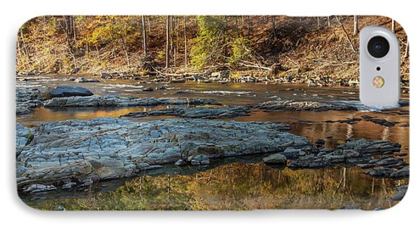 IPhone Case featuring the photograph Fork River Reflection In Fall by Iris Greenwell