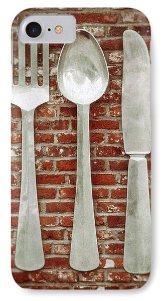 Fork Spoon Knife Phone Case by Wim Lanclus