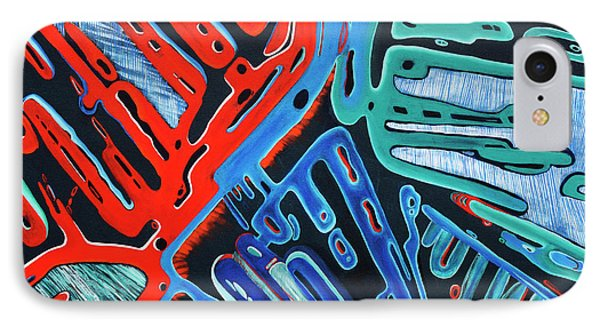 Forked Space - Out Of This World Abstract IPhone Case by Rayanda Arts