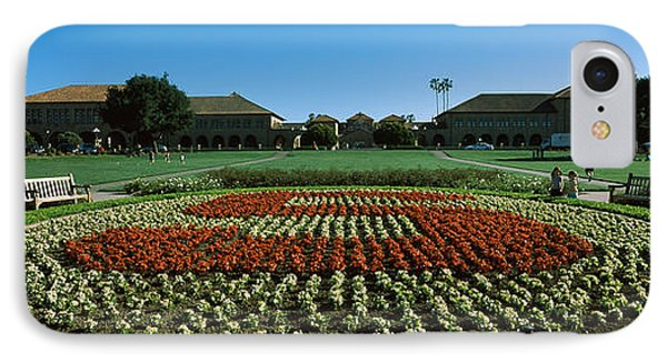 Formal Garden At The University Campus IPhone Case by Panoramic Images
