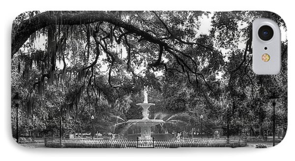 Forsyth Park Fountain 2 Savannah Georgia Art IPhone Case by Reid Callaway