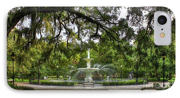Forsyth Park Fountain Historic Savannah Georgia IPhone Case by Reid Callaway