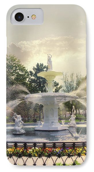 Forsyth Park Fountain - Savannah IPhone Case by Paulette B Wright