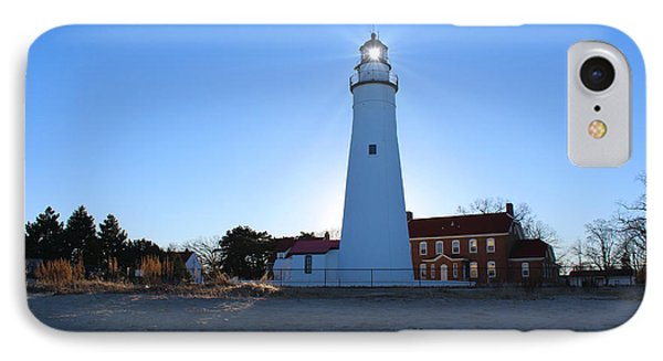 Fort Gratiot Lighthouse IPhone Case by Michael Rucker