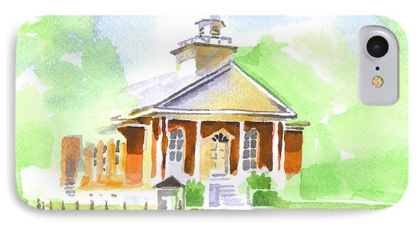 IPhone Case featuring the painting Fort Hill Methodist Church 2 by Kip DeVore