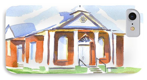 IPhone Case featuring the painting Fort Hill Methodist Church by Kip DeVore