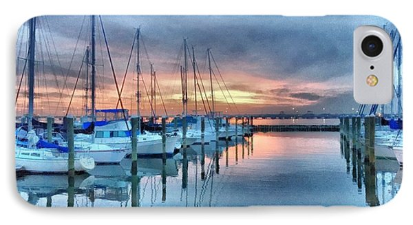 Fort Monroe Afire IPhone Case by Linda Mesibov